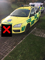 2018 11 13 Fake ambulance stopped by South Wales Police, Wales, UK