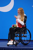 26th August 2021; Tokyo, Japan; Bronze medalist SCHOTT Verena (GER)<br /> celebrates on the podium for the Swimming : Women's 200m Individual Medley - SM6 Final - Medal Ceremony on August 26, 2021 during the Tokyo 2020 Paralympic Games at the Tokyo Aquatics Centre in Tokyo, Japan.