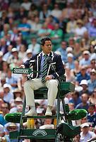 01-07-13, England, London,  AELTC, Wimbledon, Tennis, Wimbledon 2013, Day seven, Umpire on Certercourt<br /> <br /> <br /> <br /> Photo: Henk Koster