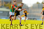 Mark O'Shea, Dr. Crokes Colin McGillycuddy, Mid Kerry during the Kerry County Senior Football Championship Semi-Final match between Mid Kerry and Dr Crokes at Austin Stack Park in Tralee, Kerry.