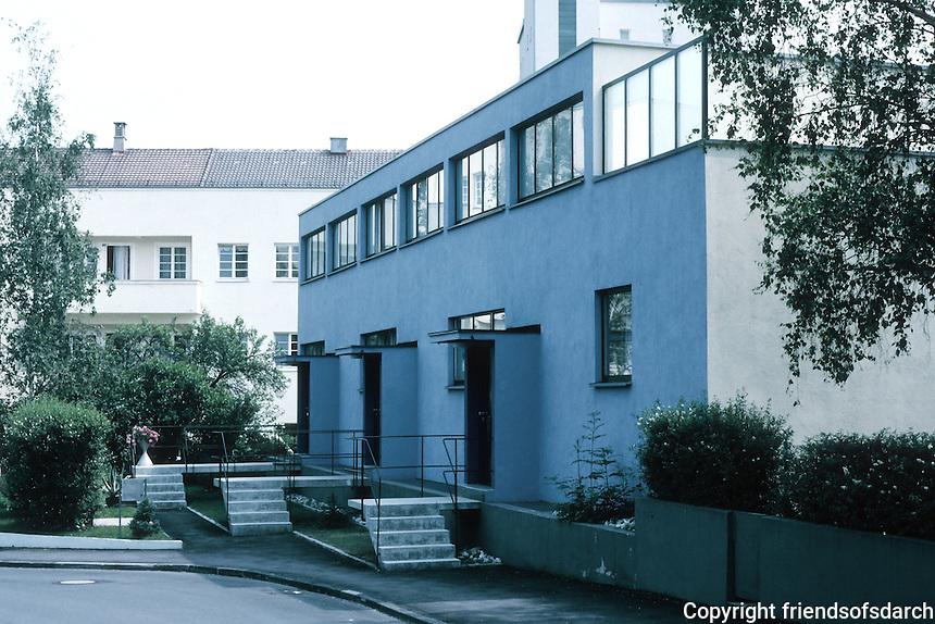 Stuttgart: Weissenhof Estate, Nos. 24, 26, 28 AM Weissenhof. Mart Stam.