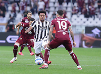 TORINO ITALY- October 2 <br /> Stadio Olimpico Grande Torino<br /> Weston Mckennie action<br /> during the Serie A match between Fc  Torino and Juventus Fc at Stadio Olimpico on October 2, 2021 in Torino, Italy.