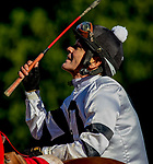 March 16, 2019: Long Range Toddy #2, ridden by Jon Court, wins the first division of the Rebel Stakes on Rebel Stakes Day at Oaklawn Park in Hot Springs, Arkansas. Carolyn Simancik/Eclipse Sportswire/CSM