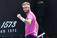 5th February 2021; Melbourne, Australia;  Corentin Moutet, FRA, during 2021 Melbourne Summer Series ATP, Tennis Mens Cup Australian Open pre-tournaments