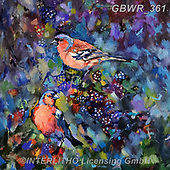 Simon, REALISTIC ANIMALS, REALISTISCHE TIERE, ANIMALES REALISTICOS, innovativ, paintings+++++SueGardner_Chaffinches,GBWR361,#a#, EVERYDAY