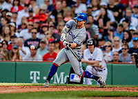 22 June 2019: Toronto Blue Jays designated hitter Eric Sogard at bat in the third inning against the Boston Red Sox at Fenway :Park in Boston, MA. The Blue Jays rallied to defeat the Red Sox 8-7 in the 2nd game of their 3-game series. Mandatory Credit: Ed Wolfstein Photo *** RAW (NEF) Image File Available ***