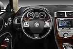 Steering wheel view of a 2011 Jaguar XKR Convertible