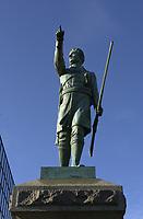 Montreal, CANADA -  statue of Chenier, a patriot