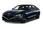 2022 Genesis G70 - 4 Door Sedan Angular Front automotive stock photos of front three quarter view