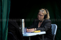Jean Lambert MEP (British Green Party Member of the European Parliament for London).<br /> <br /> London, 24/06/2016. The United Kingdom decided to leave the European Union. The British people voted (Turnout 72.2%): 51,9% to leave the EU (17,410,742 Votes) versus 48,1% to remain in the EU (16,141,241 Votes).<br /> <br /> For the full caption please find the 2-page PDF attached at the beginning of this story.<br /> <br /> For more information abou the result please clich here: http://www.bbc.co.uk/news/politics/eu_referendum/results
