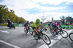 The peloton during Stage 3 of the CERATIZIT Challenge by La Vuelta 2020, running 98.6km around the streets of Madrid, Spain. 8th November 2020.<br /> Picture: Antonio Baixauli López/BaixauliStudio | Cyclefile<br /> <br /> All photos usage must carry mandatory copyright credit (© Cyclefile | Antonio Baixauli López/BaixauliStudio)