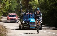 Vasil Kiryienka (BLR/SKY)<br /> <br /> restday 2 in Burgos<br /> stage 17 TT recon ride<br /> 2015 Vuelta à Espagna