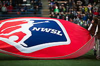Seattle, WA - Saturday March 24, 2018: NWSL Flag during a regular season National Women's Soccer League (NWSL) match between the Seattle Reign FC and the Washington Spirit at the UW Medicine Pitch at Memorial Stadium.