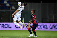 Alvaro Morata of Juventus FC and Luca Marrone of FC Crotone compete for the ball during the Serie A football match between FC Crotone and Juventus FC at stadio Ezio Scida in Crotone (Italy), October 17th, 2020. Photo Federico Tardito / Insidefoto