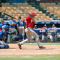 Fernando Villalobos participates in the MLB International Showcase at Estadio Quisqeya on February 22-23, 2017 in Santo Domingo, Dominican Republic.
