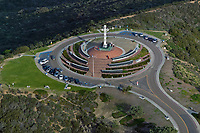aerial photograph of Mount Soledad Easter Cross, La Jolla, California