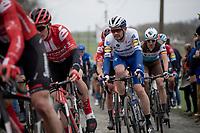 eventual race winner Kasper Asgreen (DEN/Deceuninck - QuickStep)<br /> <br /> 72nd Kuurne-Brussel-Kuurne 2020 (1.Pro)<br /> Kuurne to Kuurne (BEL): 201km<br /> <br /> ©kramon