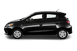 Car Driver side profile view of a 2021 Mitsubishi Mirage ES 5 Door Hatchback Side View