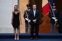 The Italian Premier Mario Draghi during the official visit of the football Italy National team, after winning the UEFA Euro 2020 Championship.<br /> Rome (Italy), July 12th 2021<br /> Photo Pool Augusto Casasoli Insidefoto