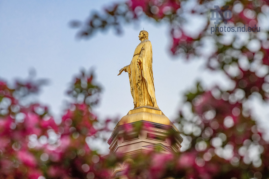 May 10, 2020; Mary statue on the Golden Dome (Photo by Matt Cashore/University of Notre Dame)