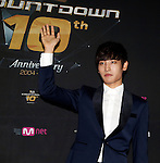"""Park Jae-Jung, Jul 24, 2014 : South Korean singer Park Jae Jung, attends a photo call before the 10th anniversary live special of weekly music chart show, """"M! Countdown"""" of Mnet in Goyang, north of Seoul, South Korea. (Photo by Lee Jae-Won/AFLO) (SOUTH KOREA)"""