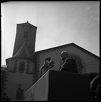 23-24 Octobre 1967. Vue du Général De Gaulle lors d'un discours en Andorre.