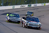 NASCAR Camping World Truck Series<br /> M&M's 200 presented by Casey's General Store<br /> Iowa Speedway, Newton, IA USA<br /> Friday 23 June 2017<br /> Harrison Burton, Morton Buildings Toyota Tundra and Jordan Anderson, Fueled by Fans/SponsorJordan.com Chevrolet Silverado<br /> World Copyright: Russell LaBounty<br /> LAT Images