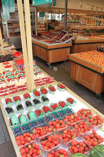 Fresh fruit on Rue Cler, Paris, France.