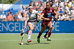 GER - Mannheim, Germany, May 27: During the women semi-final match between UHC Hamburg and Rot-Weiss Koeln at the Final4 tournament May 27, 2017 at Am Neckarkanal in Mannheim, Germany. (Photo by Dirk Markgraf / www.265-images.com) *** Local caption *** Liv Arnot #20 of Rot-Weiss Koeln, Jana Teschke #4 of Uhlenhorster HC Hamburg