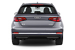 Straight rear view of a 2015 Audi A3 Ambiente 5 Door Hatchback 2WD Rear View  stock images