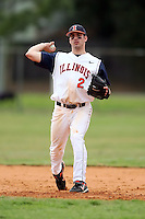 February 22, 2009:  Shortstop Domenic Altobelli (2) of the University of Illinois during the Big East-Big Ten Challenge at Naimoli Complex in St. Petersburg, FL.  Photo by:  Mike Janes/Four Seam Images