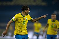 5th July 2021; Nilton Santos Stadium, Rio de Janeiro, Brazil; Copa America, Brazil versus Peru; Lucas Paquetá of Brazil celebrates his goal in the 35th minute 1-0