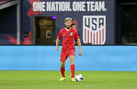 WASHINGTON, D.C. - OCTOBER 11: Tim Ream #13 of the United States looks downfield for an open man during their Nations League game versus Cuba at Audi Field, on October 11, 2019 in Washington D.C.