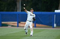 Wake Forest Demon Deacons right fielder Keegan Maronpot (13) warms-up between innings of the game against the Florida Gators in the completion of Game Two of the Gainesville Super Regional of the 2017 College World Series at Alfred McKethan Stadium at Perry Field on June 12, 2017 in Gainesville, Florida. The Demon Deacons walked off the Gators 8-6 in 11 innings. (Brian Westerholt/Four Seam Images)