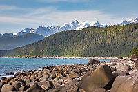 Cape Fairweather, Gulf of Alaska, Pacific ocean coast, Glacier Bay National Park, Southeast, Alaska