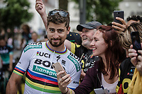 Peter Sagan (SVK/Bora Hansgrohe) selfie time. <br /> <br /> Le Grand Départ 2018<br /> 105th Tour de France 2018<br /> ©Kramon