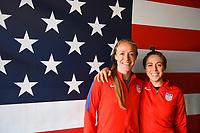 Houston, TX - April 9, 2017: The U.S. Women's national team go up versus Russia in an international friendly match at BBVA Compass Stadium.