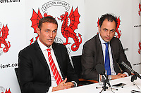 Leyton Orient manager Ian Hendon (L) and chief executive Alessandro Angelieri - Leyton Orient FC Press Conference to announce new manager Ian Hendon at Brisbane Road, Leyton Orient FC, Leyton, London - 29/05/15 - MANDATORY CREDIT: Gavin Ellis/TGSPHOTO - Self billing applies where appropriate - contact@tgsphoto.co.uk - NO UNPAID USE