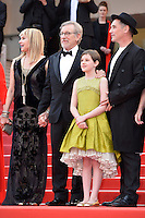 """FRA: """"THE BFG"""" Red Carpet- The 69th Annual Cannes Film Festival - Kristie Macosko, Frank Marshall, Kathleen Kennedy, Kate Capshaw, Steven Spielberg, Ruby Barnhill, Mark Rylance, Claire van Kampen, Lucy Dahl Penelope Wilton Gunther Love, attend """"THE BFG"""". Red Carpet during The 69th Annual Cannes Film Festival on May 14, 2016 in Cannes, France."""