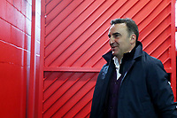 Swansea City manager Carlos Carvalhal arrives at Old Trafford prior to the Premier League match between Manchester United and Swansea City at the Old Trafford, Manchester, England, UK. Saturday 31 March 2018