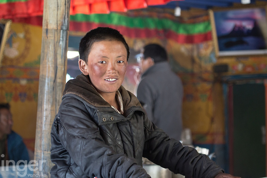 Tashi at Rongbuk Monastery Guest House in Tibetan Everest Area