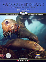 Cover of Vancouver Island 2007 Vacation Guide featuring an underwater Image of Sealions.