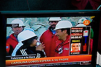 Family of Franklin Lobos watching as Franklin reach the surface as miner number 27 to be rescued. Rescue of the 33 chile miners trapped inside San Jose Mine since August 5th