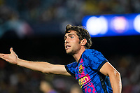 14th September 2021: Nou Camp, Barcelona, Spain: ECL Champions League football, FC Barcelona versus Bayern Munich: Sergio Roberto in action