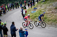 Silvan Dillier (SUI/Alpecin-Fenix) & Jonas Rickaert (BEL/Alpecin Fenix) in the final kilometers up the final climb of the day; the Col du Portet (HC/2215m)<br /> <br /> Stage 17 from Muret to Saint-Lary-Soulan (Col du Portet)(178km)<br /> 108th Tour de France 2021 (2.UWT)<br /> <br /> ©kramon