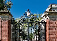 Brown University campus gate, Providence, Rhode Island, USA