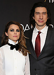 "Keri Russell and Adam Driver attends the Broadway Opening Celebration for Landford Wilson's ""Burn This""  at Hudson Theatre on April 15, 2019 in New York City."