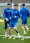 St Johnstone Training…27.09.19<br />Matty Kennedy and Michael O'Halloran pictured during training this morning at McDiarmid Park ahead of tomorrow's game against Motherwell.<br />Picture by Graeme Hart.<br />Copyright Perthshire Picture Agency<br />Tel: 01738 623350  Mobile: 07990 594431
