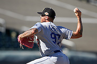 Glendale Desert Dogs pitcher Ralston Cash (97), of the Los Angeles Dodgers organization, during a game against the Surprise Saguaros on October 22, 2016 at Surprise Stadium in Surprise, Arizona.  Surprise defeated Glendale 10-8.  (Mike Janes/Four Seam Images)
