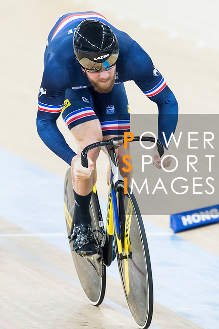 Benjamin Edelin of the team of France competes in Men's Team Sprint - Qualifying match as part of the 2017 UCI Track Cycling World Championships on 12 April 2017, in Hong Kong Velodrome, Hong Kong, China. Photo by Victor Fraile / Power Sport Images